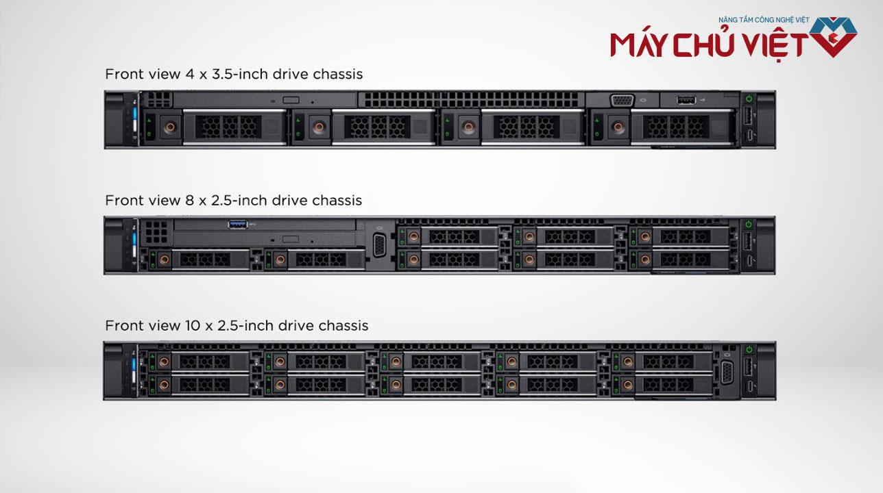 3 phiên bản mặt trước của Dell PowerEdge R640