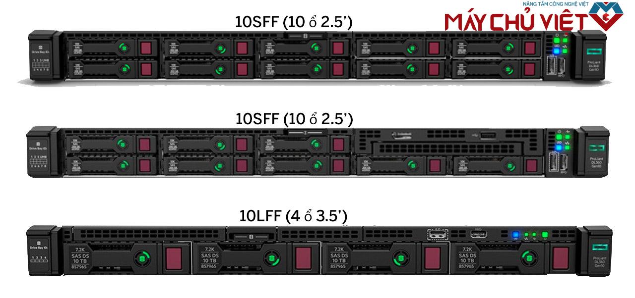 Các phiên bản ổ cứng của HPE Proliant DL 360 Gen10